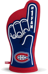 "Montreal Canadiens 13""x7"" Oven Mitt - Machine Washable Heat Resistant"