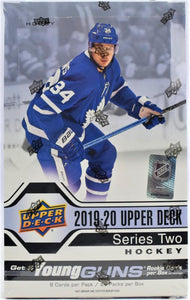 2019-20 Upper Deck Series 2 Hobby Box - 24 packs - 6 Young Guns