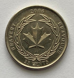 2006 Canadian 25 Cent Quarter Coin Canada - Medal of Bravery *8032
