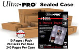 Ultra Pro Platinum 9-Pocket Pages Refill - 10 Per Pack - 24 Pack CASE - 240 Pages