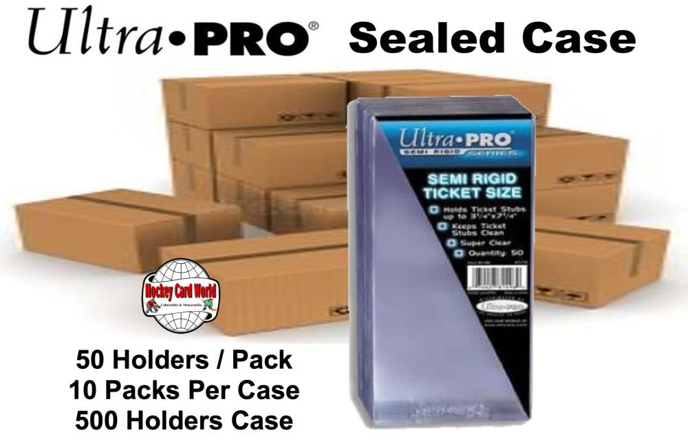 Ultra Pro Semi Rigid Ticket Size 10 Pack CASE - 50/Pack - 500 Per Case