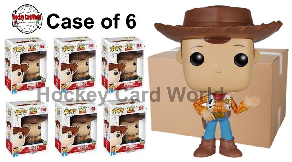 Funko Pop - 168 Disney Toy Story - Woody Vinyl Figure - Case of 6