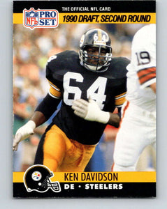 1990 Pro Set #712 Kenny Davidson Mint RC Rookie Pittsburgh Steelers