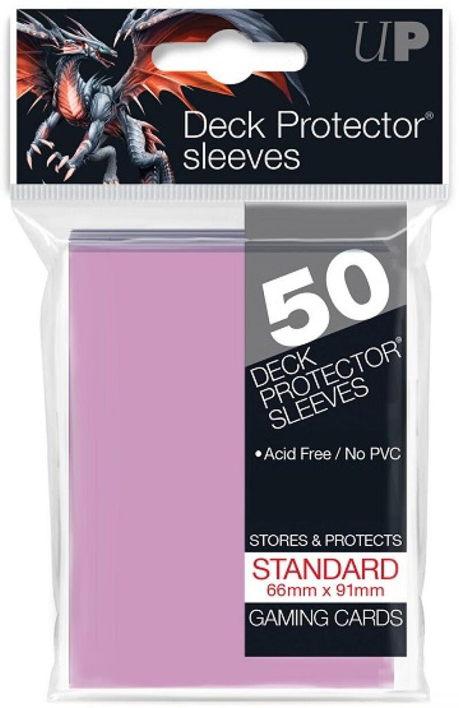 Ultra Pro Deck Protector Sleeves 50ct Pack - Gaming Cards - Pink