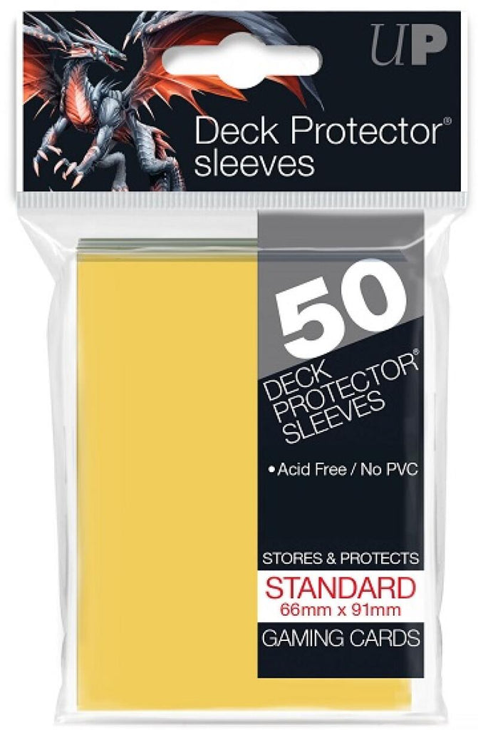 Ultra Pro Deck Protector Sleeves 50ct Pack - Gaming Cards - Yellow