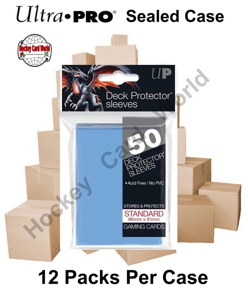 Ultra Pro Deck Protector Sleeves (Light Blue) 12 Pack CASE - 600 Sleeves