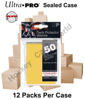 Ultra Pro Deck Protector Sleeves (Yellow) 12 Pack CASE - 600 Sleeves
