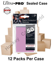 Ultra Pro Deck Protector Sleeves (Pink) 12 Pack CASE - 600 Sleeves