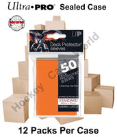 Ultra Pro Deck Protector Sleeves (Orange) 12 Pack CASE - 600 Sleeves