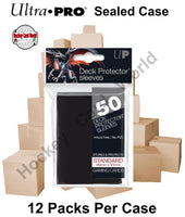 Ultra Pro Deck Protector Sleeves (Black) 12 Pack CASE - 600 Sleeves