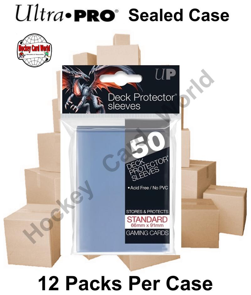 Ultra Pro Deck Protector Sleeves (Clear) 12 Pack CASE - 600 Sleeves