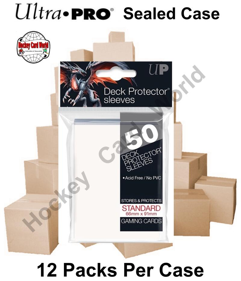 Ultra Pro Deck Protector Sleeves (White) 12 Pack CASE - 600 Sleeves