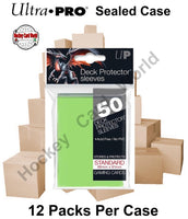 Ultra Pro Deck Protector Sleeves (Lime Green) 12 Pack CASE - 600 Sleeves