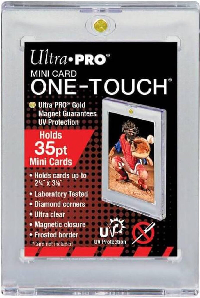 Ultra Pro 1Touch 35pt Mini Card UV Magnetic Holder One Touch Upper Deck & Panini