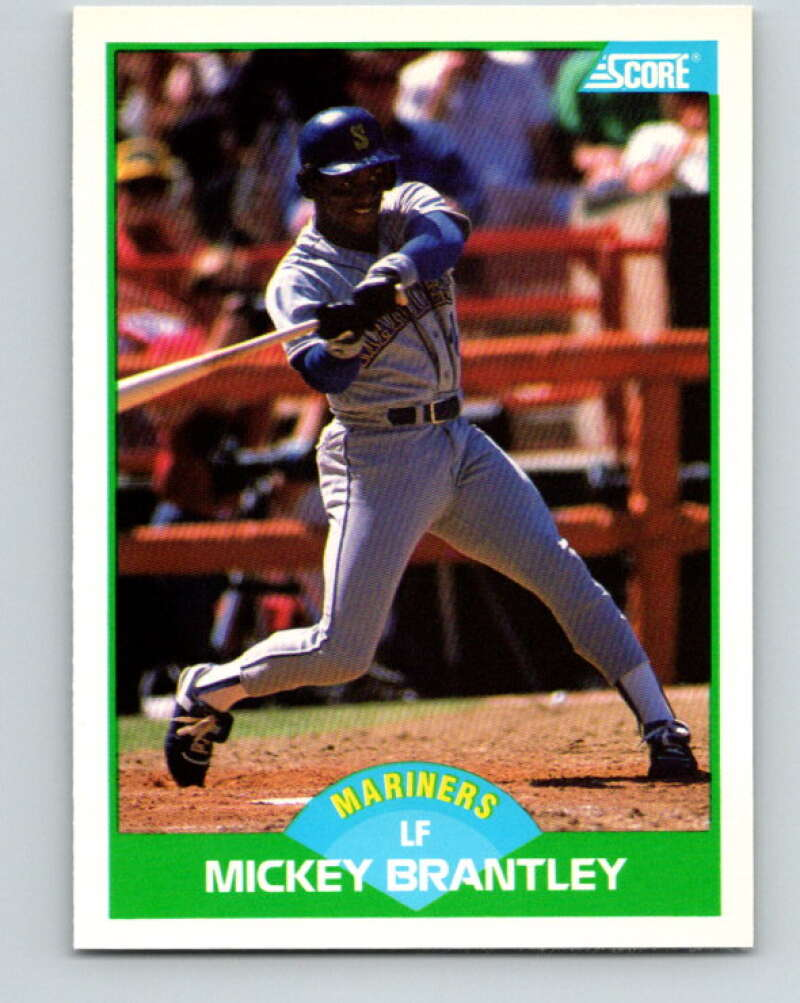 1989 Score #89 Mickey Brantley Mint Seattle Mariners