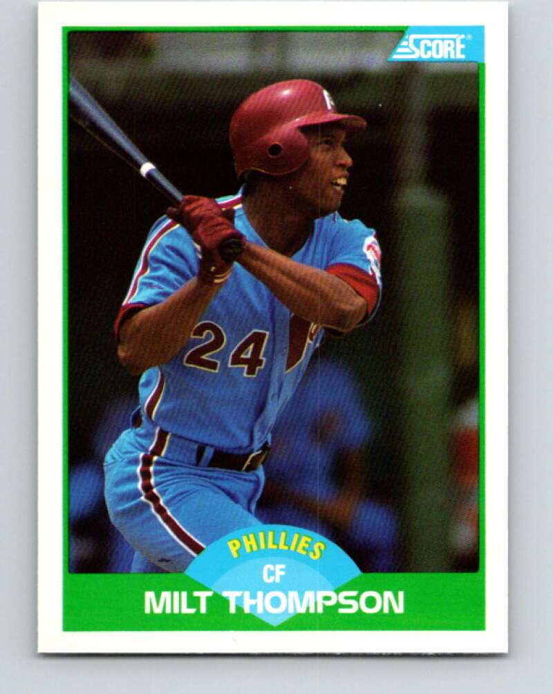 1989 Score #92 Milt Thompson Mint Philadelphia Phillies