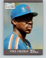 1991 Ultra #212 Vince Coleman Mint New York Mets
