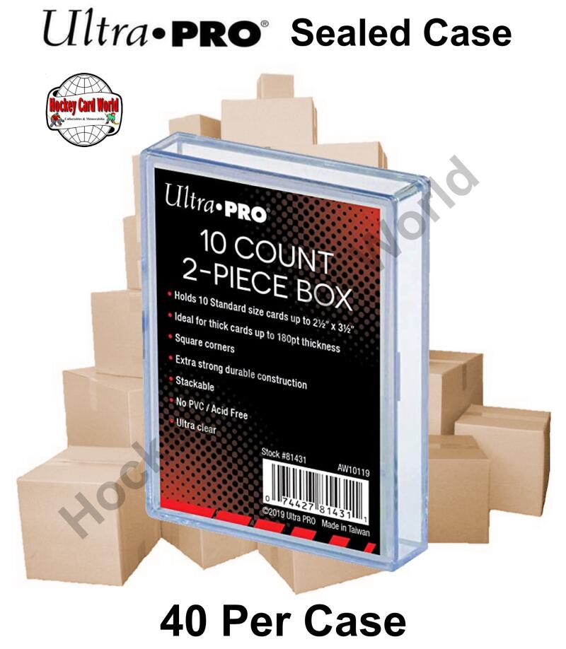Ultra Pro 10 Count 2-Piece Card Storage Box - Holds 180pt thickness - Case of 40