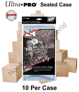 Ultra Pro Current Comic Book Bags - Case of 10 Packs - 1000 Bags