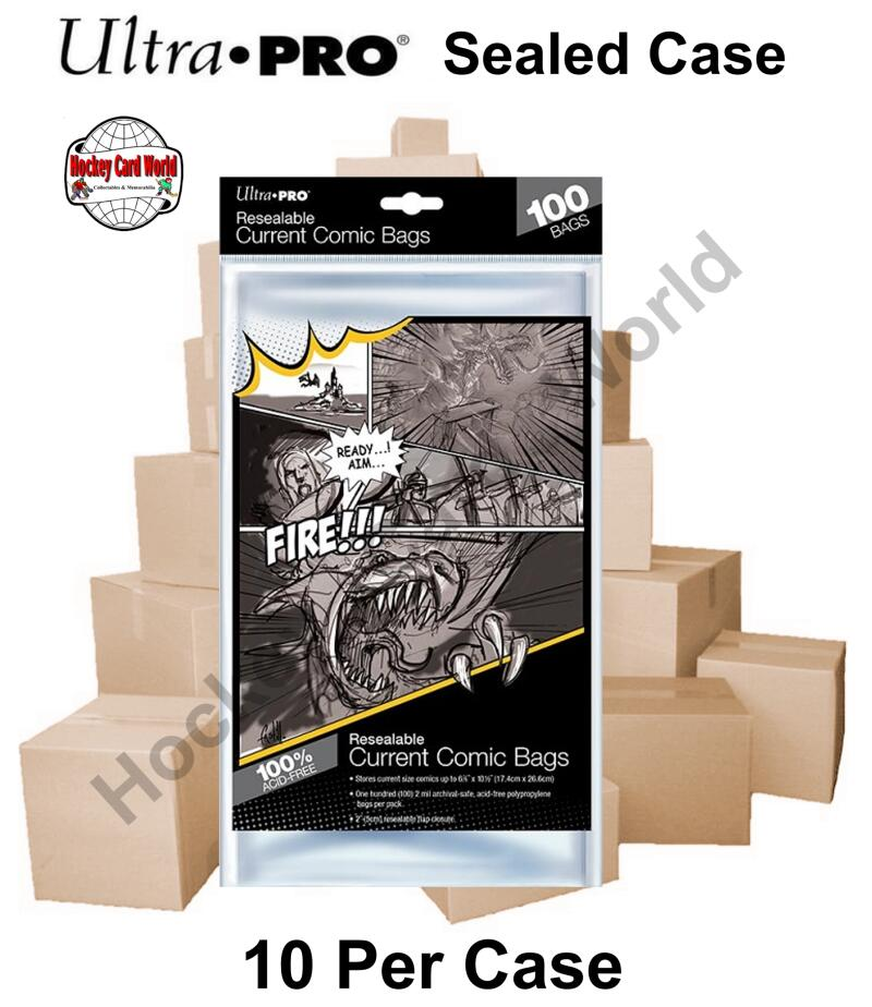 Ultra Pro Current Comic Book Reseal Bags - Case of 10 Packs - 1000 Bags
