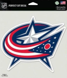"Columbus Blue Jackets Perfect Cut 8""x8"" Large Licensed Decal Sticker"