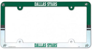 "Dallas Stars NHL Plastic Full Colour License Plate Frame 6""x12"""