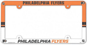 "Philadelphia Flyers NHL Plastic Full Colour License Plate Frame 6""x12"""