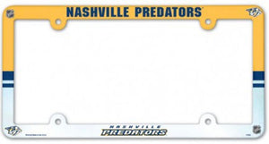"Nashville Predators NHL Plastic Full Colour License Plate Frame 6""x12"""