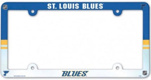 "St.Louis Blues NHL Plastic Full Colour License Plate Frame 6""x12"""