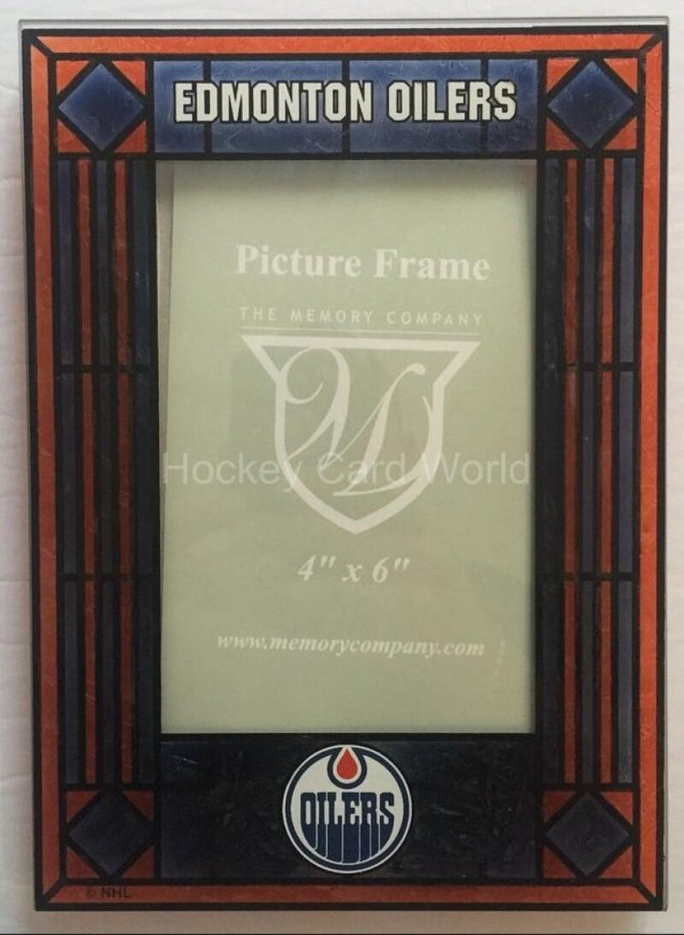 Edmonton Oilers Vertical 4x6 NHL Art-Glass Picture Frame - New in Box