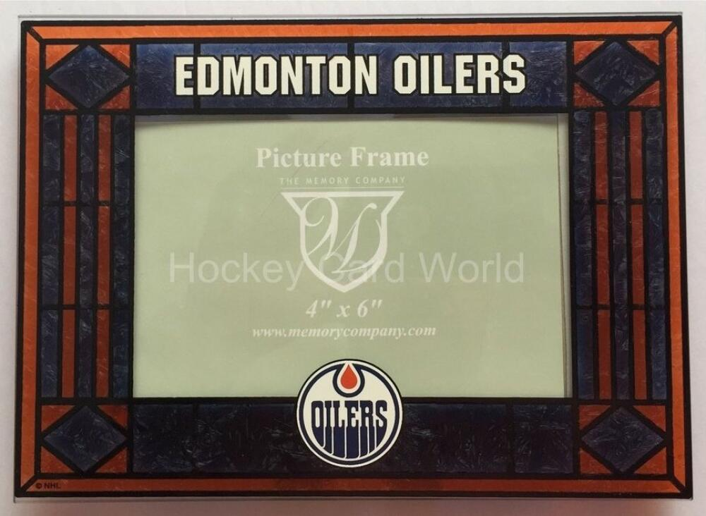 Edmonton Oilers Horizontal 4x6 NHL Art-Glass Picture Frame - New in Box