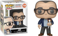 Funko Pop - 756 TV Modern Family - Jay with dog Vinyl Figure