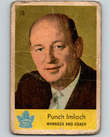 1959-60 Parkhurst #15 Punch Imlach RC Rookie Toronto Maple Leafs V5
