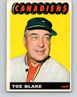1965-66 Topps #1 Toe Blake CO  Montreal Canadiens  V467