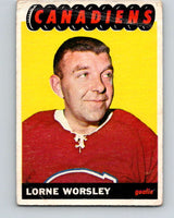 1965-66 Topps #2 Gump Worsley  Montreal Canadiens  V468
