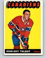 1965-66 Topps #4 Jean-Guy Talbot  Montreal Canadiens  V470