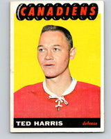 1965-66 Topps #5 Ted Harris  RC Rookie Montreal Canadiens  V471