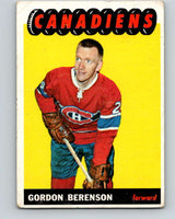 1965-66 Topps #9 Red Berenson  Montreal Canadiens  V476
