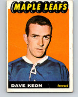 1965-66 Topps #17 Dave Keon  Toronto Maple Leafs  V484