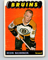 1965-66 Topps #36 Ron Schock  RC Rookie Boston Bruins  V505
