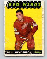 1965-66 Topps #51 Paul Henderson  RC Rookie Detroit Red Wings  V525