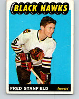 1965-66 Topps #63 Fred Stanfield  RC Rookie Chicago Blackhawks  V538