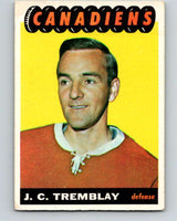 1965-66 Topps #69 J.C. Tremblay  Montreal Canadiens  V545
