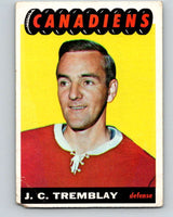 1965-66 Topps #69 J.C. Tremblay  Montreal Canadiens  V546