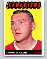 1965-66 Topps #72 Dave Balon  Montreal Canadiens  V549