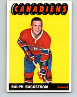 1965-66 Topps #73 Ralph Backstrom  Montreal Canadiens  V550