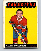 1965-66 Topps #73 Ralph Backstrom  Montreal Canadiens  V551