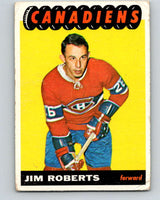 1965-66 Topps #74 Jim Roberts  RC Rookie Montreal Canadiens  V552