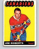 1965-66 Topps #74 Jim Roberts  RC Rookie Montreal Canadiens  V553