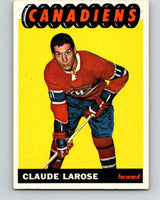 1965-66 Topps #75 Claude Larose  RC Rookie Montreal Canadiens  V554